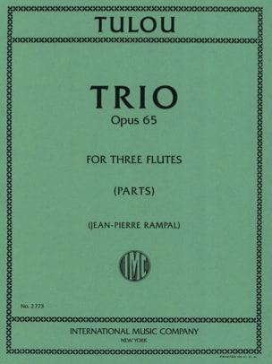 Trio op. 65 - 3 Flûtes Jean-Louis Tulou Partition laflutedepan