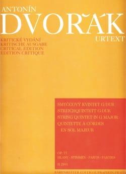 Streichquintett in G-Dur op. 77 -Stimmen DVORAK laflutedepan