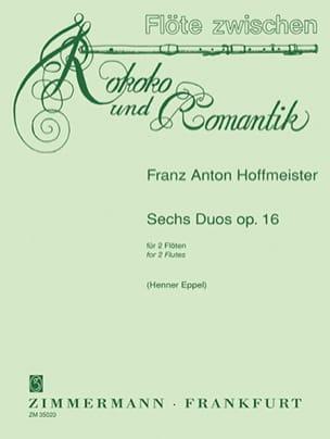 Six Duos Op.16 HOFFMEISTER Partition Flûte traversière - laflutedepan