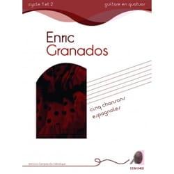 5 chansons espagnoles GRANADOS Partition Guitare - laflutedepan