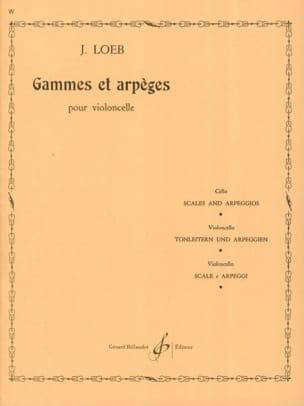 Gammes et Arpèges J. Loeb Partition Violoncelle - laflutedepan