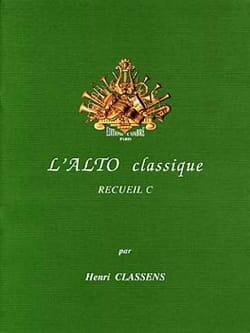 L'alto Classique Volume C CLASSENS Partition Alto - laflutedepan