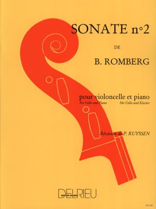 Sonate n° 2 en do majeur Op. 43 ROMBERG Partition laflutedepan