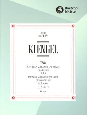 Kindertrio G-Dur op. 35 n° 2 Julius Klengel Partition laflutedepan