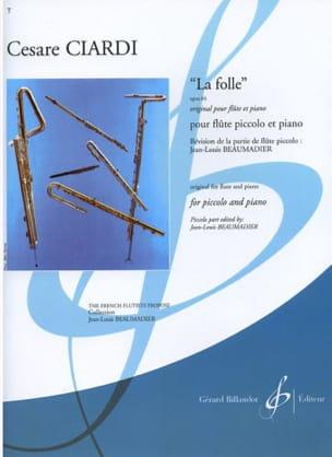 La Folle op. 64 Cesare Ciardi Partition laflutedepan