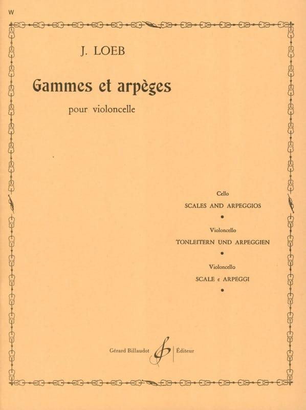 Gammes et Arpèges - J. Loeb - Partition - laflutedepan.com