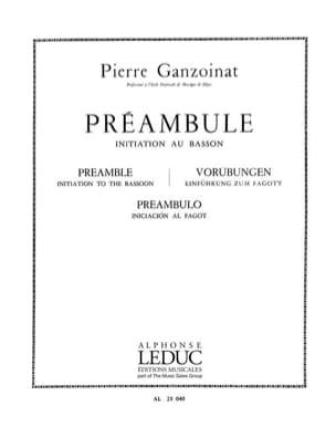 Préambule - Basson Pierre Ganzoinat Partition Basson - laflutedepan