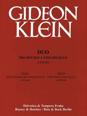 Duo für Violine und Violoncello Gideon Klein Partition laflutedepan