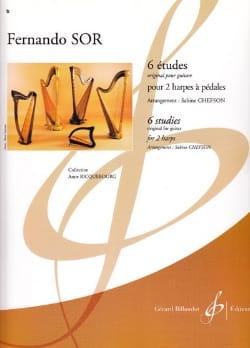 6 Etudes - 2 Harpes SOR Partition 0 - laflutedepan