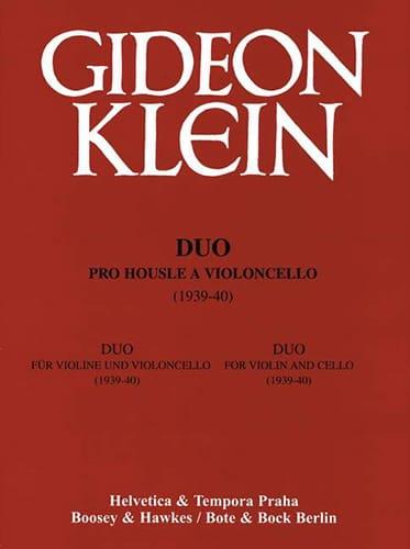 Duo für Violine und Violoncello - Gideon Klein - laflutedepan.com