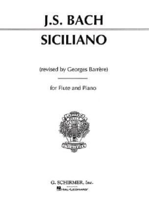 Siciliano - Flûte et Piano - BACH - Partition - laflutedepan.com