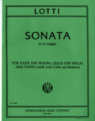 Sonata in G major - Flute cello piano - laflutedepan.com