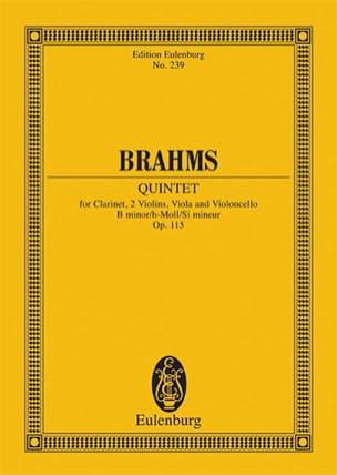 Quintett h-moll op. 115 -Partitur BRAHMS Partition laflutedepan