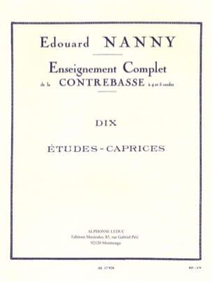 10 Etudes-Caprices - Contrebasse Edouard Nanny Partition laflutedepan