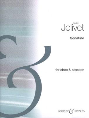 Sonatine - Hautbois et basson André Jolivet Partition laflutedepan