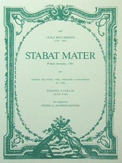 Stabat Mater - Partitura BOCCHERINI Partition laflutedepan