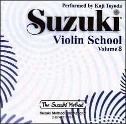 Violin School Vol.8 - CD Seul SUZUKI Partition Violon - laflutedepan