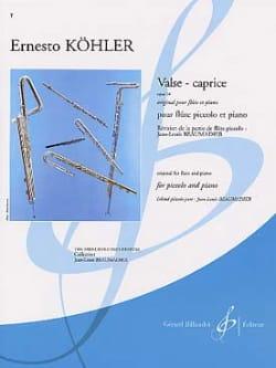 Valse-Caprice op. 14 Ernesto Köhler Partition laflutedepan