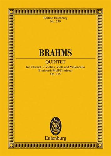 Quintett h-moll op. 115 -Partitur - BRAHMS - laflutedepan.com