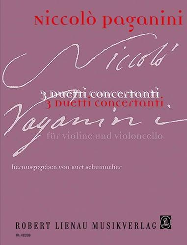 3 Duetti concertanti - PAGANINI - Partition - 0 - laflutedepan.com