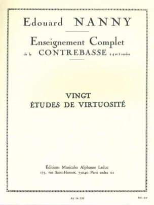 20 Etudes de virtuosité - Contrebasse - laflutedepan.com