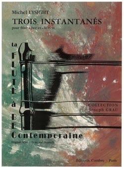Trois instantanés - Flûte à bec clavecin Michel Lysight laflutedepan