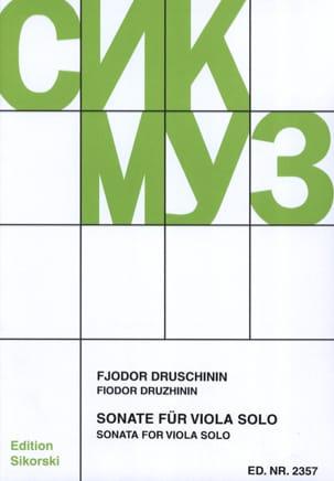 Sonate - Alto solo Fjodor Druschinin Partition Alto - laflutedepan