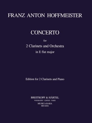 Concerto in E-Flat - 2 clarinets piano HOFFMEISTER laflutedepan