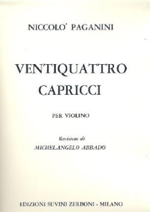 24 Capricci - PAGANINI - Partition - Violon - laflutedepan.com