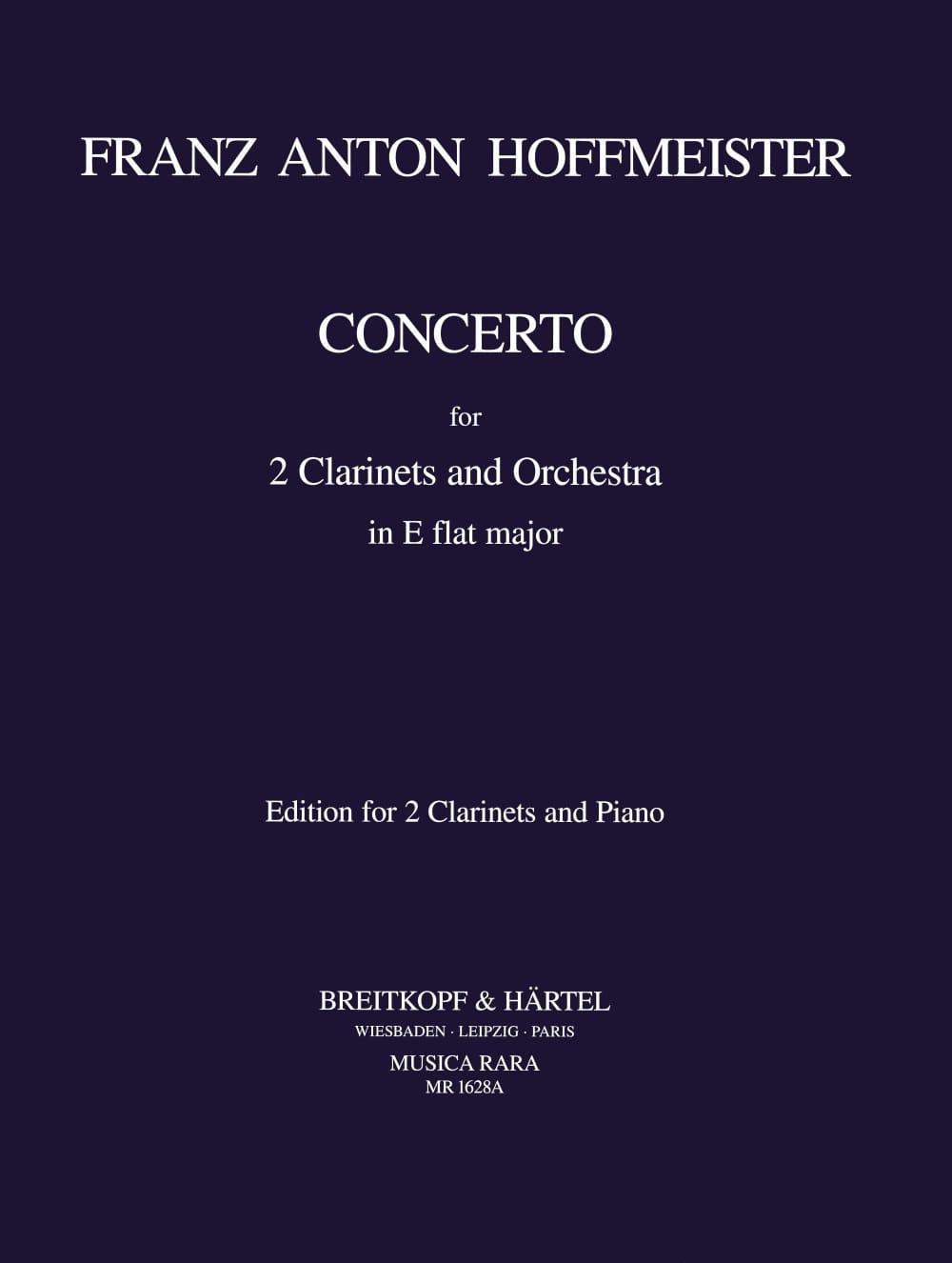 Concerto in E-Flat - 2 clarinets piano - laflutedepan.com