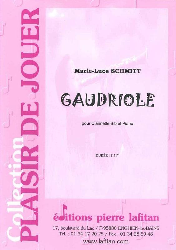 Gaudriole - Marie-Luce Schmitt - Partition - laflutedepan.com