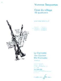 Ceux du village 10 quatuors - Volume 2 Yvonne Desportes laflutedepan