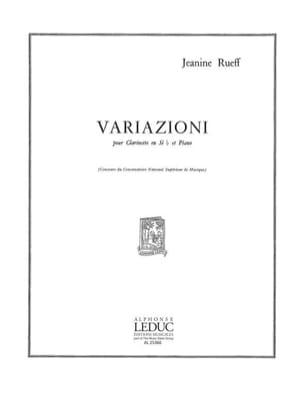 Variazioni Jeanine Rueff Partition Clarinette - laflutedepan
