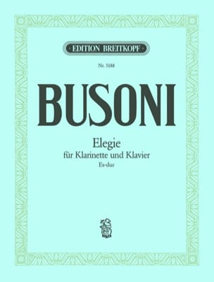 Elegie Es-Dur- Klarinette Klavier BUSONI Partition laflutedepan