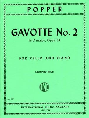 Gavotte n° 2 in D major op. 23 David Popper Partition laflutedepan