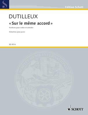 Sur le même accord - Violon piano DUTILLEUX Partition laflutedepan