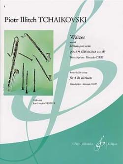 Walzer op. 48 - 4 clarinettes TCHAIKOVSKY Partition laflutedepan