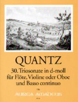 Trio- Sonate In D-Moll Qv 2:anh. 9 - QUANTZ - laflutedepan.com