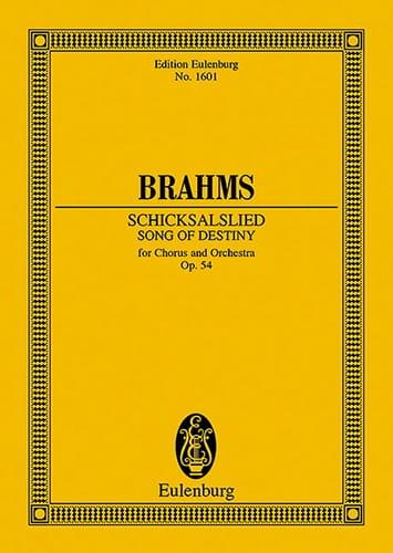 Schicksalslied, op. 54 - BRAHMS - Partition - laflutedepan.com