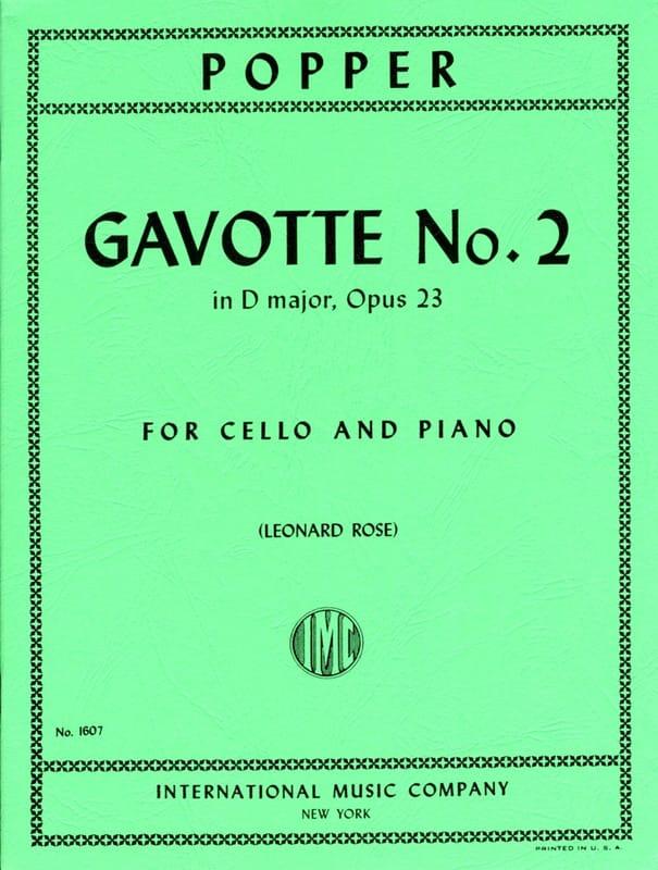 Gavotte n° 2 in D major op. 23 - David Popper - laflutedepan.com