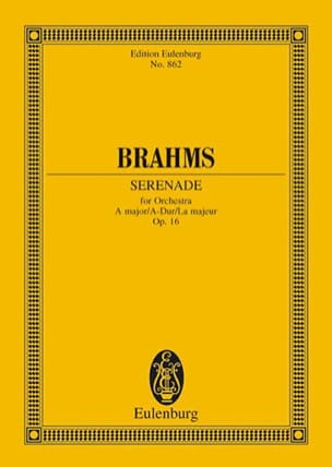 Serenade A-Dur, Op. 16 BRAHMS Partition Petit format - laflutedepan