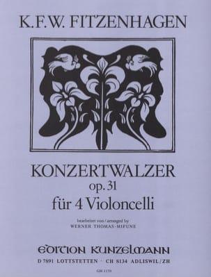 Konzertwalzer op. 31 - Wilhelm K. F. Fitzenhagen - laflutedepan.com