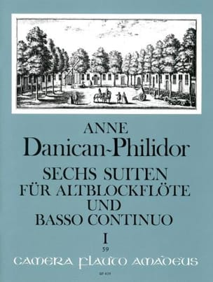 6 Suiten Volume 1 Anne Danican-Philidor Partition laflutedepan