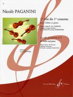 1er Solo Du 1er Concerto PAGANINI Partition Violon - laflutedepan