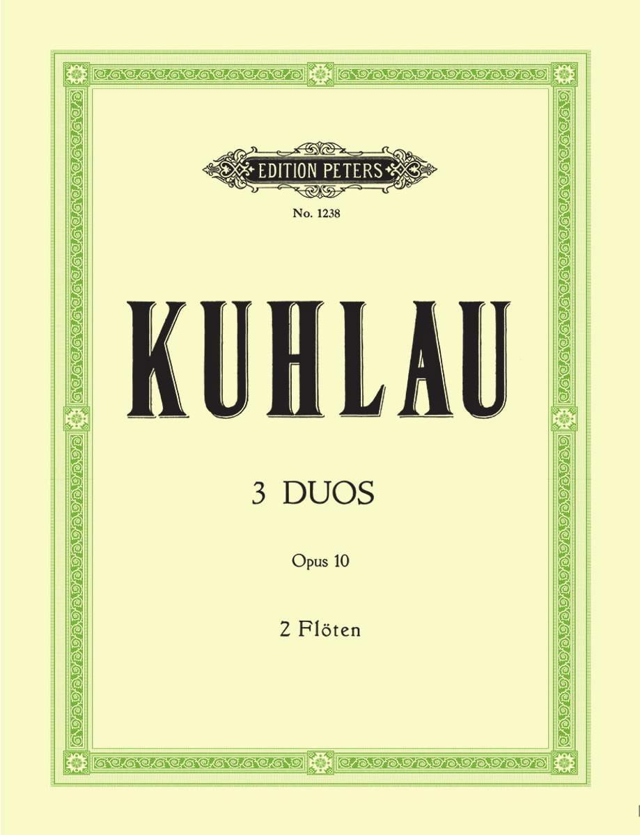 3 Duos op. 10 - 2 Flûtes - Friedrich Kuhlau - laflutedepan.com