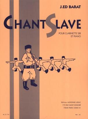 Chant slave Joseph-Edouard BARAT Partition Clarinette - laflutedepan