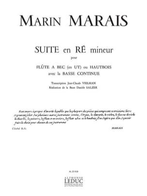 Suite en ré mineur - Flûte à bec et Bc Marin Marais laflutedepan