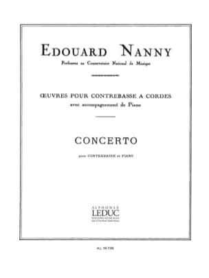 Concerto - Contrebasse Edouard Nanny Partition laflutedepan