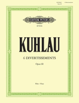 6 Divertissements Op. 68 Friedrich Kuhlau Partition laflutedepan