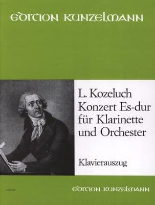 Konzert Es-Dur -Klarinette Klavier Léopold Kozeluch laflutedepan